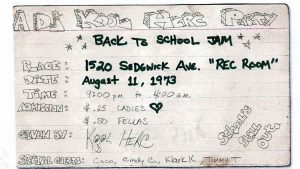 DJ Kool Herc's official flyer